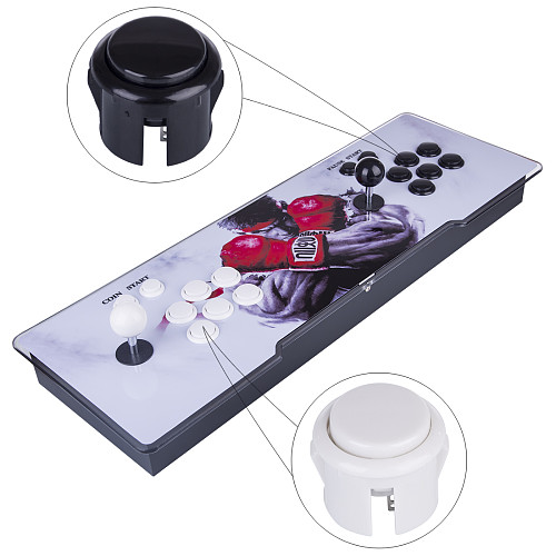Pandora Box 9S 1388 Games LED Lighting Up Game Console (White+Black Buttons)