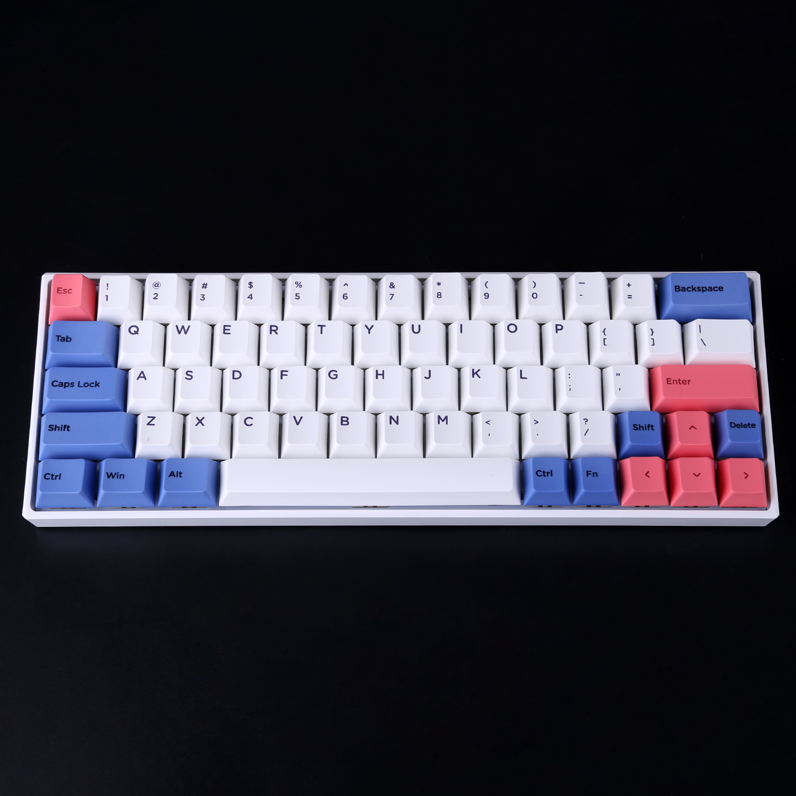 YC64 64-Key Gaming Mechanical Keyboard Hot Swappable PBT Keycaps RGB Bluetooth Wireless Wired Dual-mode
