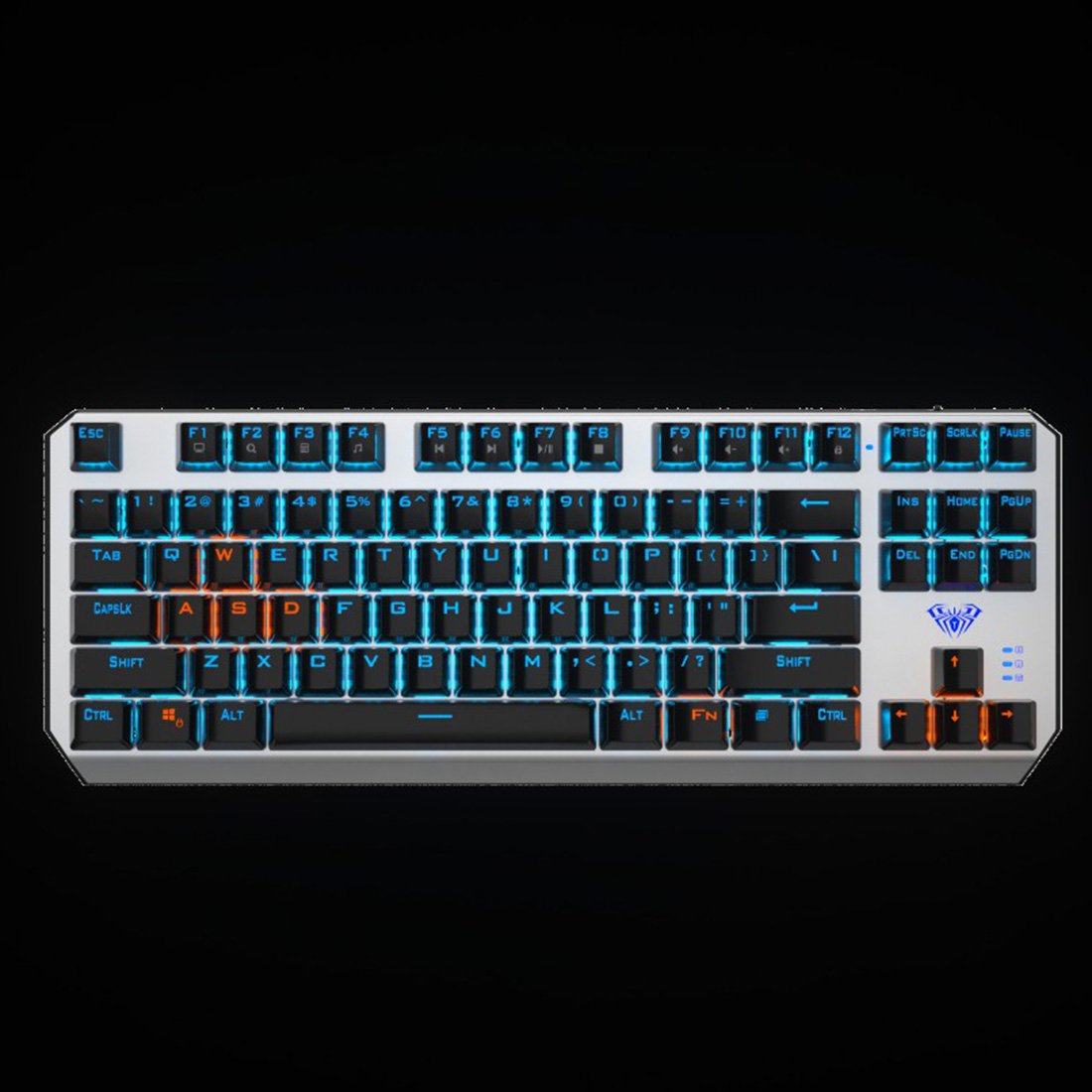 AULA F3087 87-Key Mechanical Gaming Keyboard with Type-C Cable for Tablet Desktop