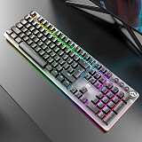 G900 104-Key Wired RGB Blacklit Gaming Mechanical Keyboard for Sports Games /Office /Electronic