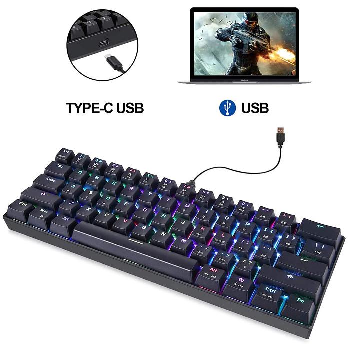 Motospeed CK61 61-Key Gaming Mechanical Keyboard RGB Wired