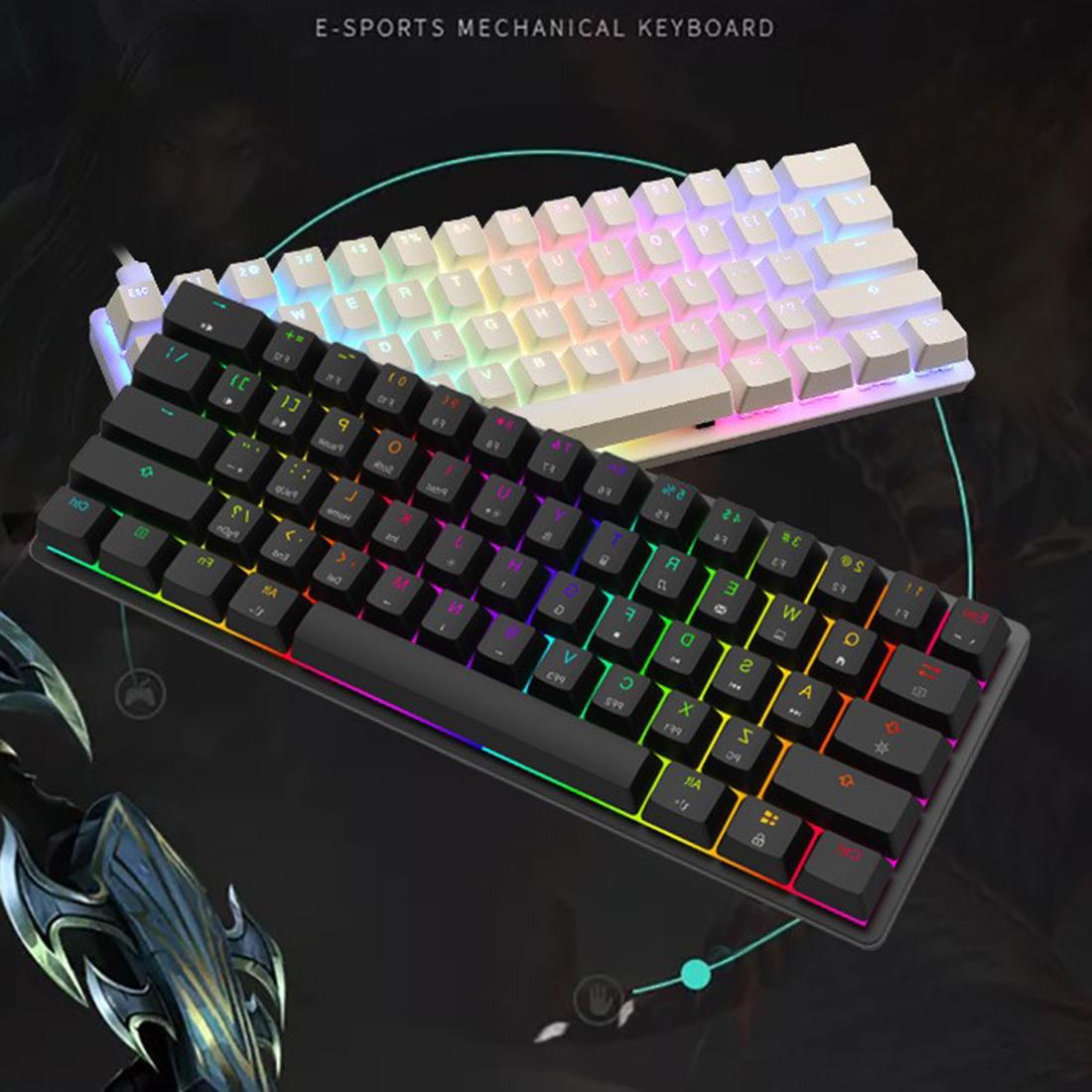Magic-Refiner MK22 61-Key Mechanical Gaming Keyboard N-key Rollover RGB Wired