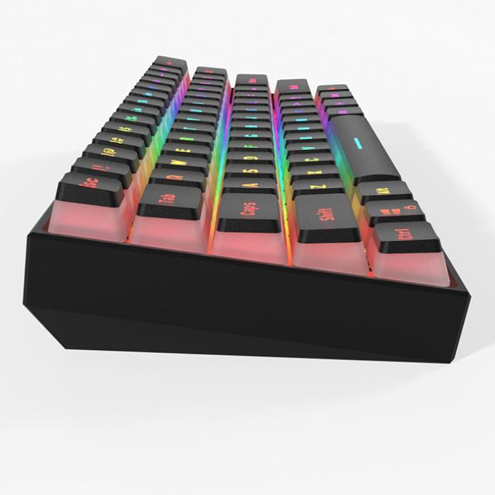 PK61 61 Keys Gaming Mechanical Keyboard RGB Type-C Line Separation Wired
