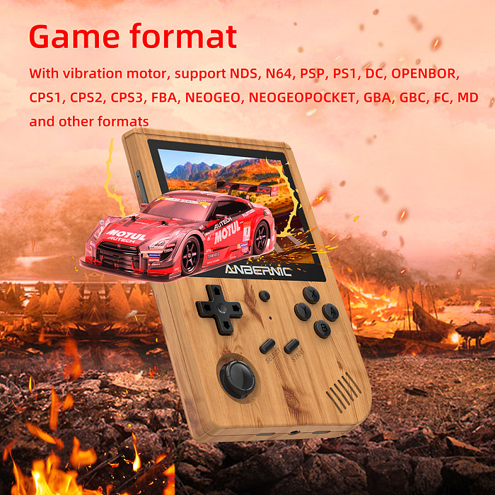 Anbernic RG351V Handheld 32GB 5433 Games WiFi Function Retro Emulation Game Console 3.5-Inch