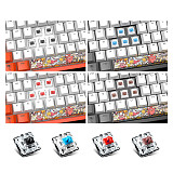 DKM150 104-Key Gaming Mechanical Keyboard USB PBT Keycaps with Magnetic Suction Panel