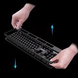 ZIDL ZK25 Mechanical Keyboard Pluggable Dustproof Waterproof USB Gaming Keyboard
