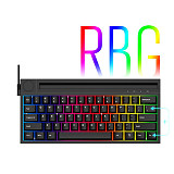 K620T 62 Keys Gaming Mechanical Keyboard RGB Wired Bluetooth Wireless Dual-mode