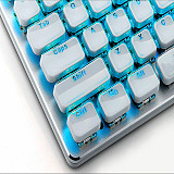 104-Key Gaming Mechanical Keyboard OA Low Profile 9 Backlight Modes High Transparent Crystal Keycaps