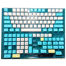 130pcs Keycaps Set PBT Dye-sub with Puller for 61/64/87/96/104 Keys GH60 RK61 Matrix Joke Custom Mechanical Gaming Keyboard