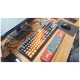 110pcs Starry Sky Keycaps Set PBT Dye-sub with Puller for 61/64/87/96/104 Keys GH60 /RK61 /Matrix /Joke Custom Gaming Mechanical Keyboard
