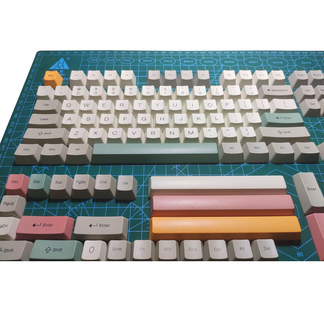 128pcs Keycaps Set Retro PBT Dye-sub with Puller for 61/64/87/96/104 Keys GH60 RK61 Matrix Joke Custom Mechanical Gaming Keyboard