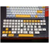 140pcs Honey Milk Keycaps Set PBT Dye-sub with Puller for 61/64/87/96/104 Keys GH60 /RK61 /Matrix /Joke Custom Gaming Mechanical Keyboard