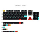 129pcs Metropolis Keycaps Set PBT Dye-sub with Puller for 61/64/87/96/104 Keys GH60 RK61 Matrix Joke Custom Mechanical Gaming Keyboard