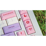 134pcs Cherry Blossom Keycaps Set PBT Dye-sub with Puller for 61/64/87/96/104 Keys GH60 /RK61 /Matrix /Joke Custom Gaming Mechanical Keyboard