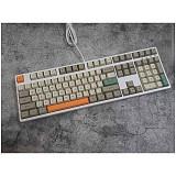 128pcs Industrial Style Keycaps Set Retro PBT Dye-sub with Puller for 61/64/87/96/104 Keys GH60 /RK61 /Matrix /Joke Custom Gaming Mechanical Keyboard