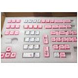 131pcs Cat Style Keycaps Set Sublimation PBT Dye-sub with Puller for 61/64/87/96/104 Keys GH60 /RK61 /Matrix /Joke Custom Gaming Mechanical Keyboard