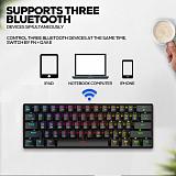 S61 61 Keys Bluetooth Dual Mode Mechanical Keyboard RGB Backlight Gaming Keyboard