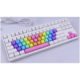 37pcs Rainbow Keycaps Sets Gaming Mechanical Keyboard PBT with Puller for GH60 /RK61 /Annie Pro /Joke