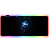 RGB Luminous Gaming Mouse Pad Colorful Oversized Desk Mat for Mechanical Keyboard Mouse - Deep Sea Jellyfish