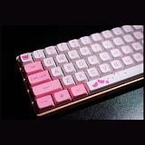 117pcs Red Lotus Keycaps Set PBT Dye-sub with Puller for 61/64/87/96/104 Keys GH60/RK61/Matrix/Joke Gaming Mechanical Keyboard
