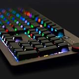 Ajazz AK60 Side Carving RGB Mechanical Keyboard Special Multimedia Knob Wired Backlit Gaming Keyboard for Windows/Mac/Andoid