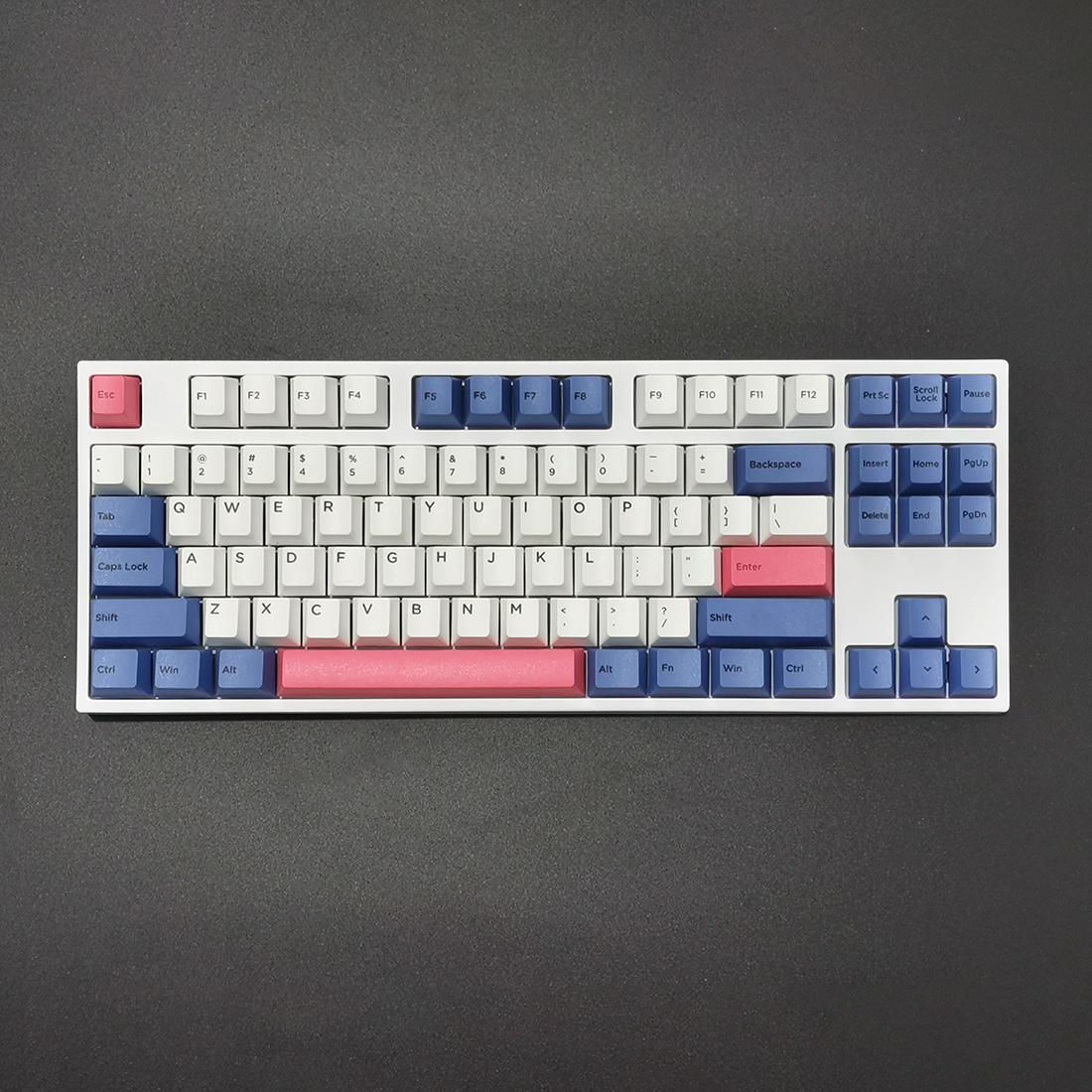 GK87 87 Keys Standard Gaming Mechanical Keyboard PBT Keycaps RGB Wired - TTC Switches