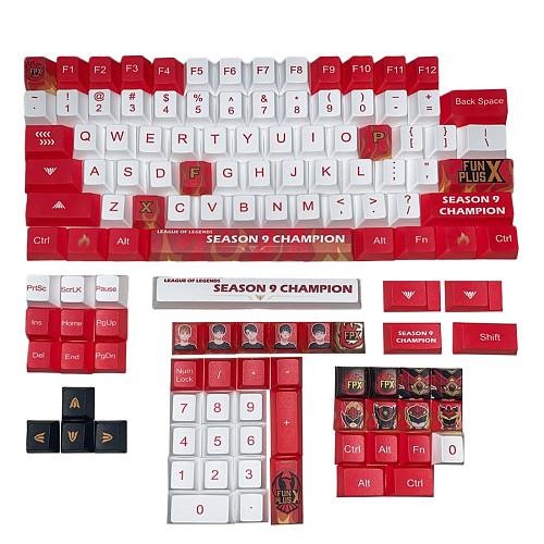 115pcs Keycaps Set PBT Dye-sub with Puller for 61/64/87/96/104 Keys GH60/RK61/Matrix/Joke Custom Gaming Mechanical Keyboard