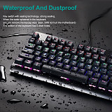 Z77 87-Key PC Gaming Mechanical Keyboard RGB Backlit 12 Programmable MACRO KEYS