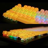 Pudding Keycaps Set Double Shot Crystal PBT Cherry MX OEM Profile RGB Backlit Standard ANSI 104 English (US) Layout for GH60 /RK61 /Matrix /Joke Gaming Mechanical Keyboards