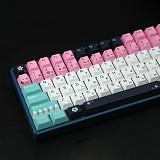 129pcs Okita Souji Keycaps Set PBT Dye-sub with Puller for 61/64/87/96/104 Keys GH60 /RK61 /Matrix /Joke Custom Gaming Mechanical Keyboard