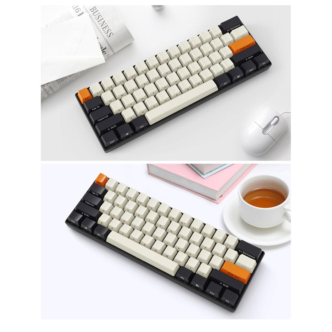 61 Keys 60% Mechanical Gaming Keyboard PBT Keycaps Wireless Bluetooth RGB Ultra-Compact
