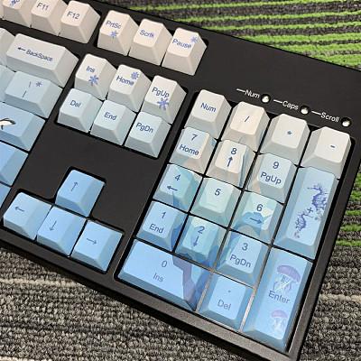 108pcs Ice Age Keycaps Set PBT Dye-sub with Puller for 61/64/87/96/104 Keys GH60 /RK61 /Matrix /Joke Custom Gaming Mechanical Keyboard
