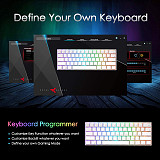 RK61 61 Keys 60% Gaming Mechanical Keyboard Compact USB Wired Bluetooth Dual-mode (White RGB)