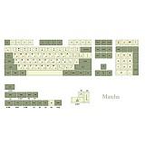 124pcs Matcha Keycap Sets Dye Sub PBT with Puller for 61/64/87/96/104 Keys GH60 /RK61 /Annie Pro /Joke Custom Gaming Mechanical Keyboard