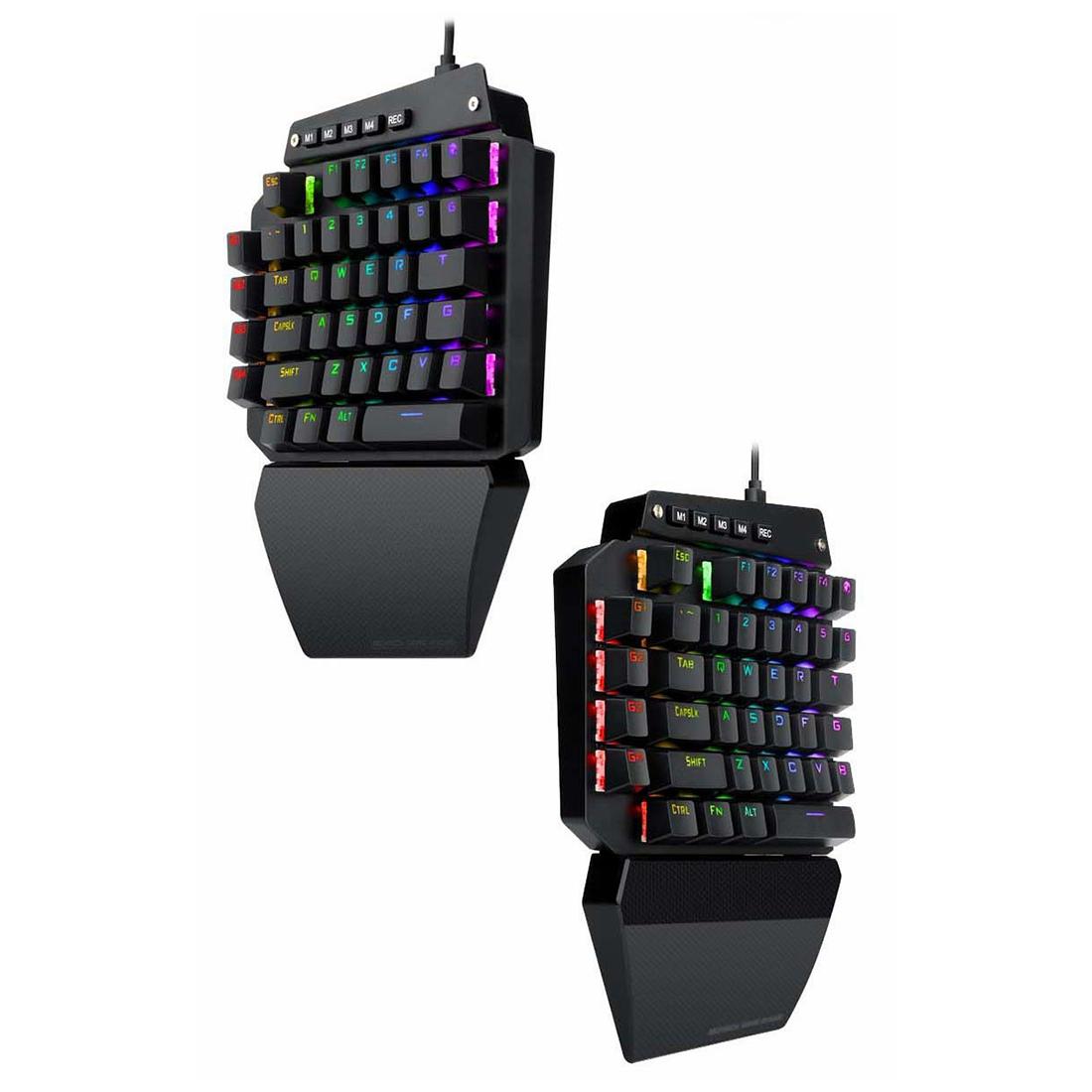 K700 One-hand 44-Key Gaming Mechanical Keyboard RGB LED Backlight