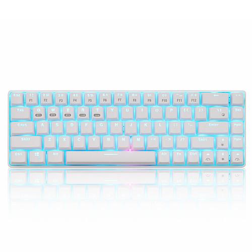 XM-RF68 Mechanical Keyboard 68-Key 3 Modes Bluetooth 2.4GHz Wireless Keyboard for Desktop Laptop Computer
