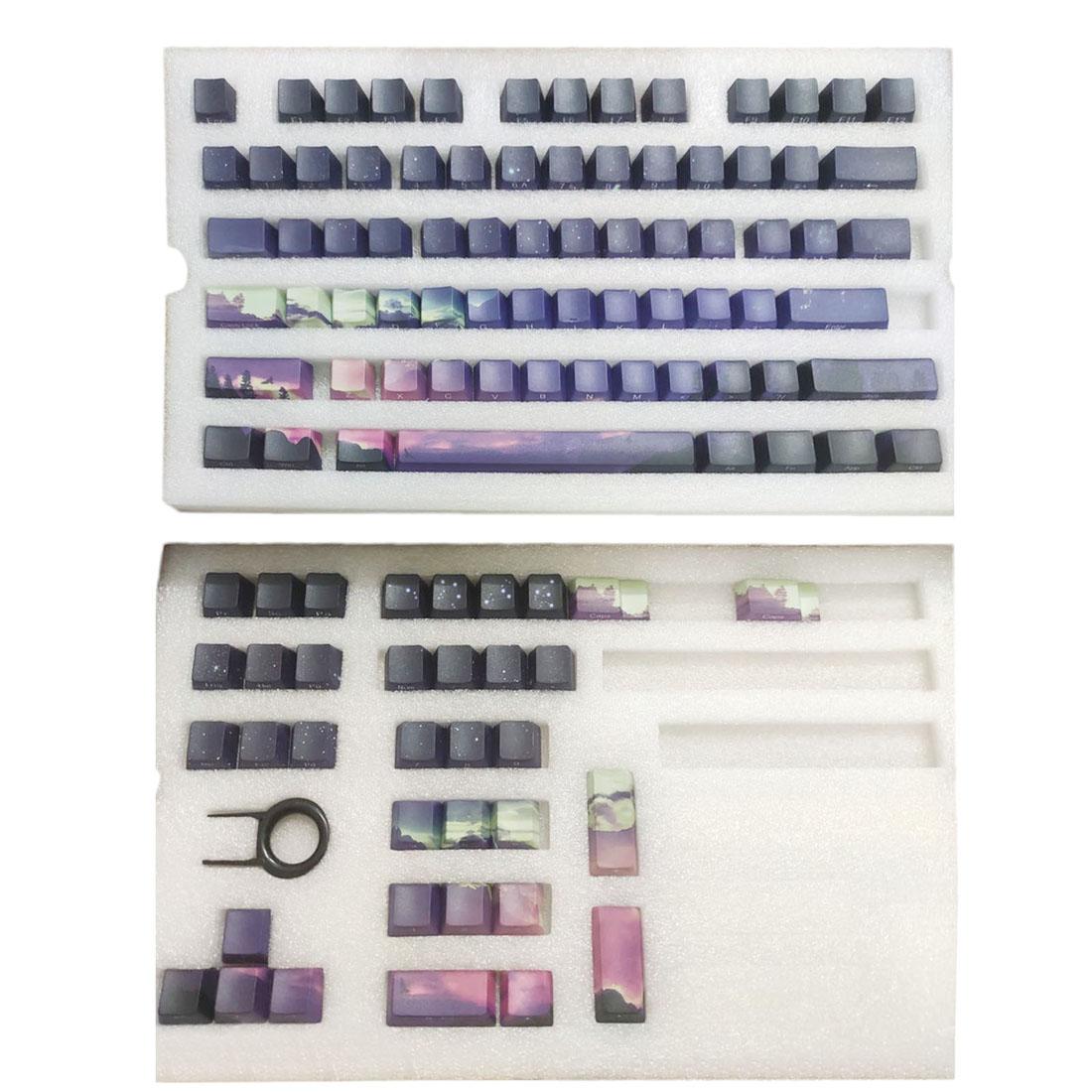 110pcs Dawn Style Keycaps Set PBT Dye-sub with Puller for 61/64/87/96/104 Keys GH60 RK61 Matrix Joke Custom Mechanical Gaming Keyboard