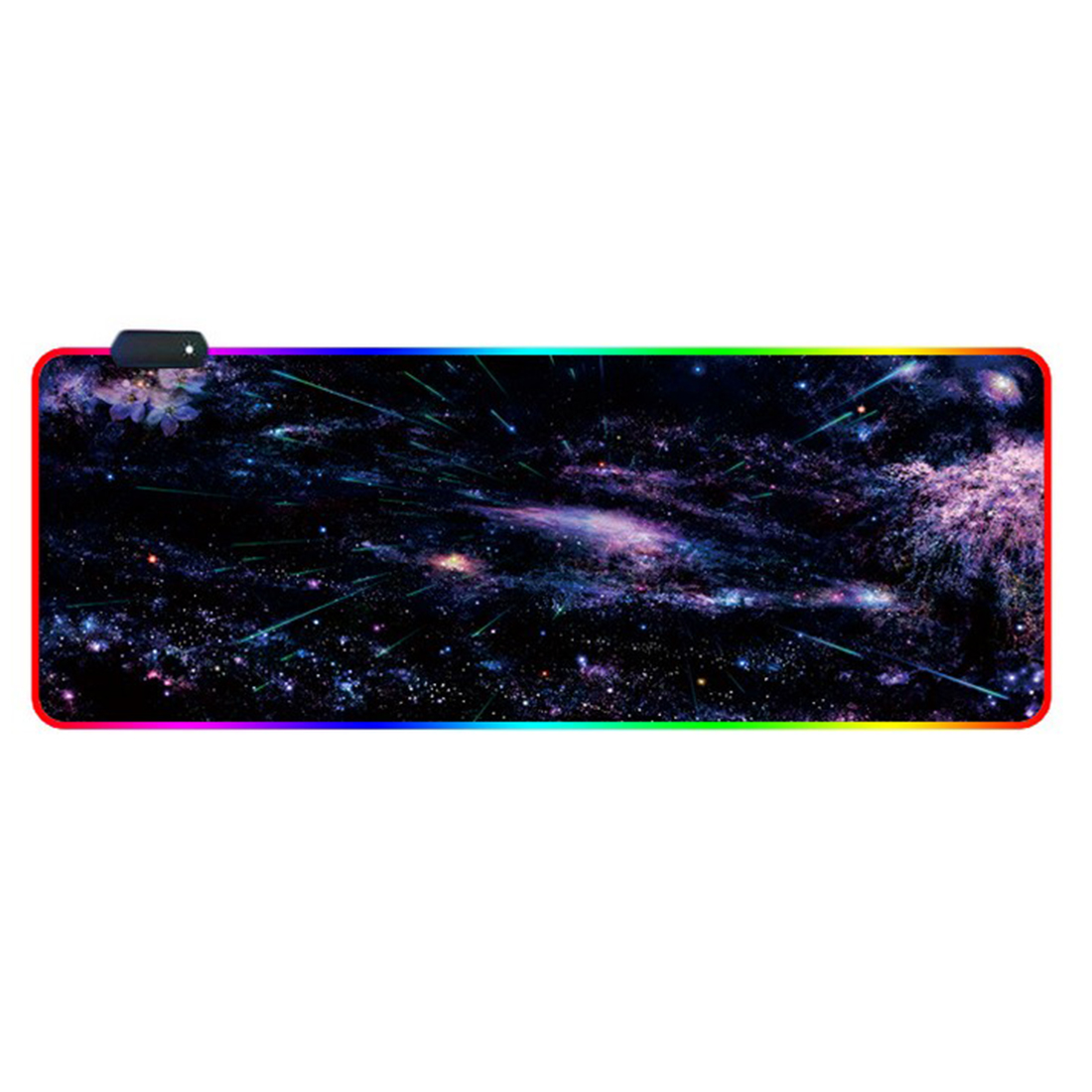 RGB Luminous Gaming Mouse Pad Colorful Oversized Desk Mat for Mechanical Keyboard Mouse - Gorgeous Starry Sky