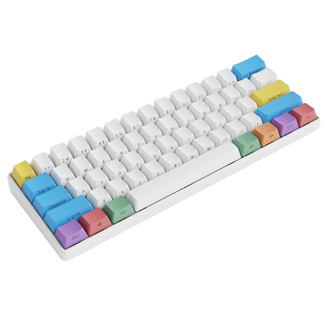 61 Keys PBT Keycaps Wireless Bluetooth Ultra-Compact 60% Mechanical Gaming Keyboard for Windows/Ios/Andoid