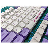 138pcs Milk Purple Keycaps Set PBT Dye-sub with Puller for 61/64/87/96/104 Keys GH60 /RK61 /Matrix /Joke Custom Gaming Mechanical Keyboard