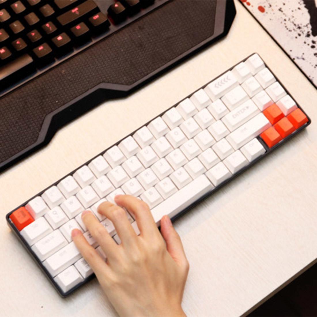 EK871 71 Keys PBT Keycaps Wireless 65% Mechanical Gaming Keyboard Compact Bluetooth Keyboard for Windows/Mac/Andoid
