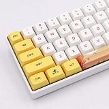 129pcs Autumn Style Keycaps Set PBT Dye-sub with Puller for 61/64/87/96/104 Key GH60 /RK61 /Annie Pro /Joke Custom Gaming Mechanical Keyboard