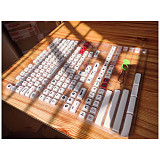 162pcs Airplane Keycaps Set PBT Dye-sub with Puller for 61/64/87/96/104 Keys GH60 /RK61 /Matrix /Joke Custom Gaming Mechanical Keyboard