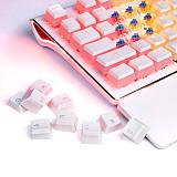 104pcs Pudding Keycaps Set OEM Profile Double Shot PBT Keycap with Translucent Layer for 60%/87 TKL/104 MX Switch Mechanical Keyboards