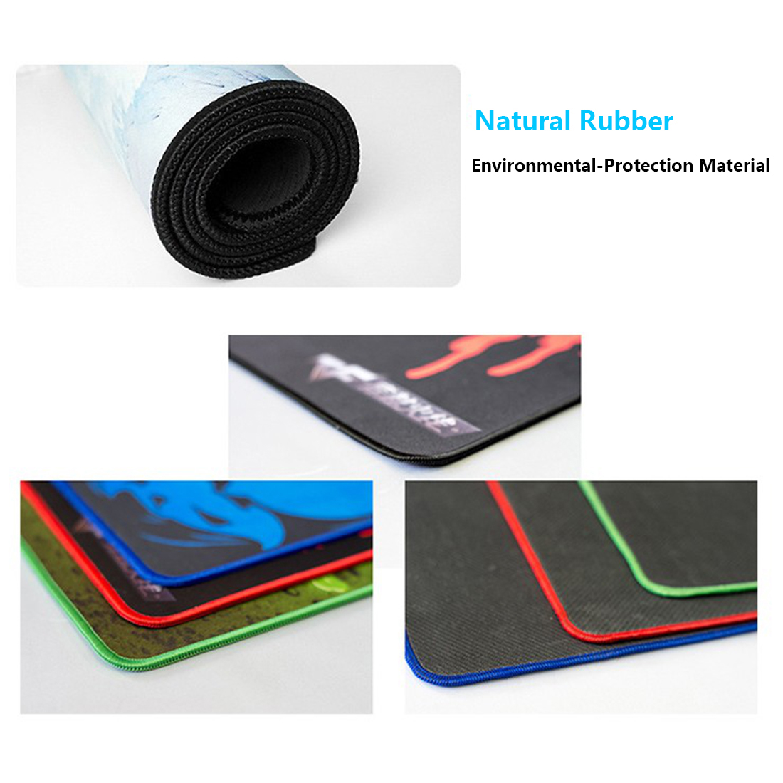 RGB Luminous Gaming Mouse Pad Colorful Oversized Desk Mat for Mechanical Keyboard Mouse - Wandering Earth