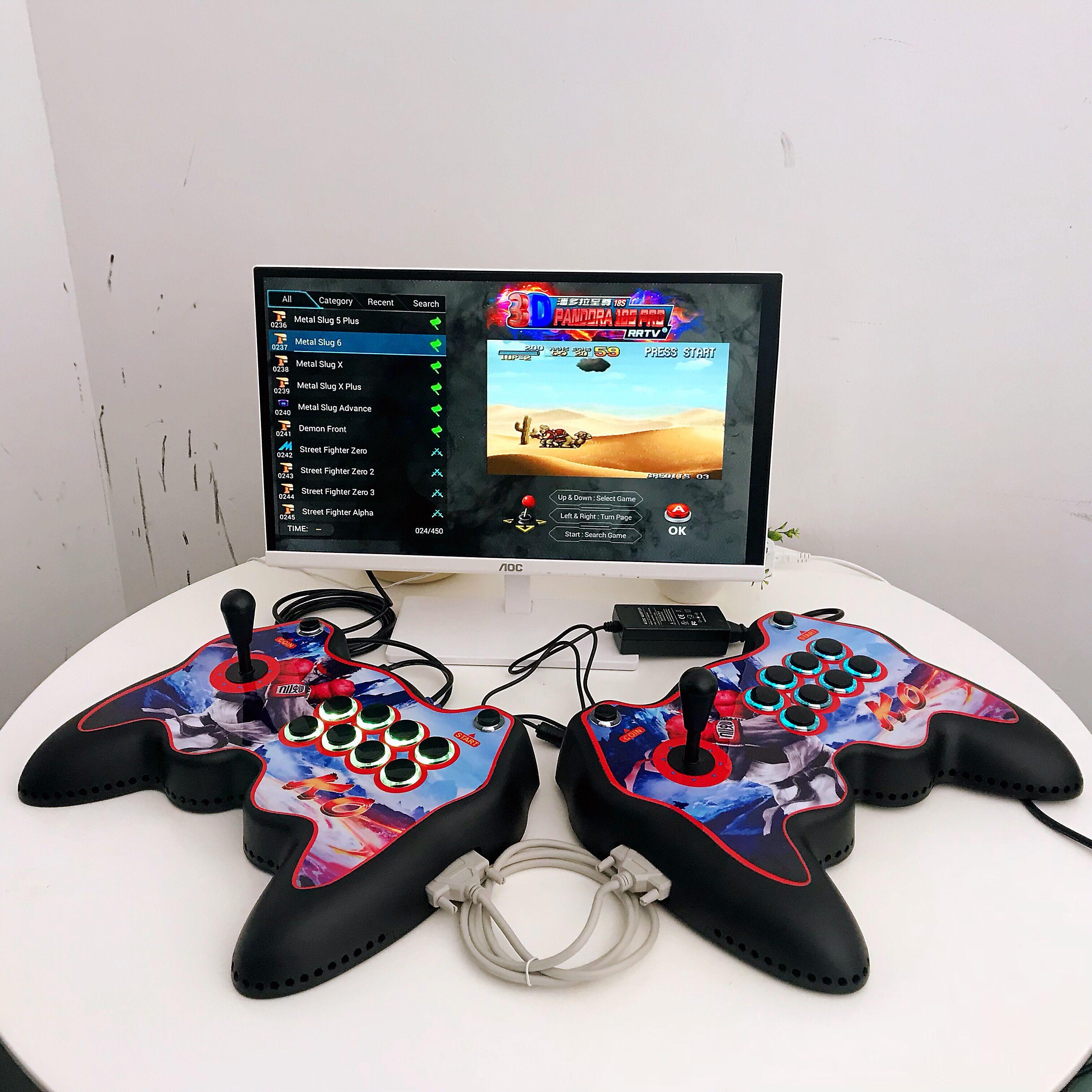 Joystick Shaped Pandora Box 18S Pro 8000 Games Console (WiFi Version)