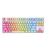 Unicorn 87 Keys Gaming Mechanical Keyboard Wired for E-sports Games (White Backlit + Rainbow Keyboard)
