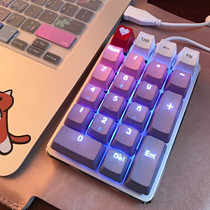Unicorn 21 Keys PBT Keycaps Mechanical Numerical Keyboard Desktop Laptop Keypads - Purple Pink Keycaps