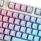 Unicorn 87 Keys Wired Mechanical Keyboard E-sports Gaming Keyboard (Champagne White Backlit + Blue Keyboard)