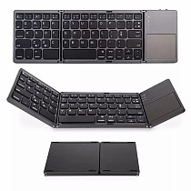 63 Keys Foldable Bluetooth Keyboard Portable Mini Wireless Keyboard with Touchpad